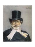 Giuseppe Verdi Italian Composer Giclee-trykk av Giovanni Boldini