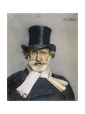 Giuseppe Verdi Italian Composer Giclée-tryk af Giovanni Boldini