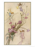 Fairies and Flowers Giclée-tryk af Warwick Goble