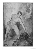 Beowulf Shears off Grendel's Head and Kills Him Giclee Print by John Henry Frederick Bacon