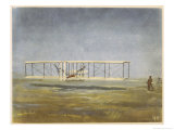 The First Flight: Kitty Hawk Giclee Print by A.w. Diggelmann