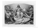 Jesus of Nazareth Depicted as Christ the Consolator Giclée-Druck von Sydenham Teast Edwards