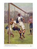 An Attacking Player Gives the Keeper a Firm Shoulder Barge Sending Him into His Own Net Reproduction procédé giclée par S.t. Dadd