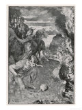Beowulf Finds the Severed Head of His Comrade Aschere Giclee Print by John Henry Frederick Bacon