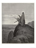 Jesus is Tempted by Satan in the Wilderness Giclee-trykk av Gustave Doré