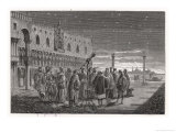 Galileo Shows the Satellites of Jupiter to Venetian Senators Giclee Print by Louis Figuier