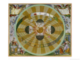 Representation of His System Showing Earth Circling the Sun Giclée-Druck von Andreas Cellarius