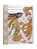 Narcisse Cover for the Offical Programme of Narcisse Reproduction procédé giclée par Leon Bakst