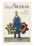 Poster for the Nicolas Chain of Wine Shops France Reproduction procédé giclée par  Dransy