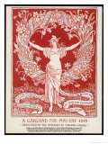 A Garland for May Day, 1895 Giclée-tryk af Walter Crane