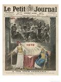 The Peace Treaty Avenges France for Her Loss of the Franco-Prussian War Gicléetryck av Eugene Damblans