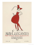 """Poster Advertising """"Aux Elegantes"""" in London's Old Brompton Road Giclee Print by Aldo Cosomati"""