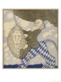 Kurt Eisner I, Eisner Rides the Lion Triumphantly Having Organized the Munich Revolution Giclee Print by Olaf Gulbransson