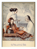 Chinese Doctor Feels the Pulse of an Aristocratic Patient with Exceedingly Long Finger Nails Giclee Print by Jean Droit