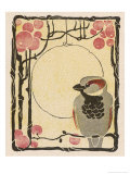 Decorative Bird on the Bough of a Fruit Tree ジクレープリント : ルートヴィッヒ・ホールヴァイン