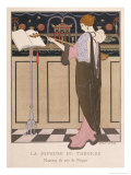 Paquin Evening Coat Giclee Print by Georges Barbier