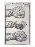 Detailed Views of a Roman Cestus a Leather Glove Used in Ancient Boxing Reproduction procédé giclée par A. Forbes