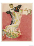 Two-Step Dance Giclee Print by Paul Rieth