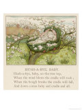 Baby Sleeps in Its Cradle Among the Apple Blossom Unaware of the Danger That Giclee-trykk av Kate Greenaway
