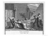 Marcus Antonius Believing Cleopatra Dead Kills Himself to Cleopatra's Distress Reproduction procédé giclée par Augustyn Mirys