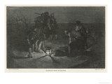 Blackbeard Blackbeard (Edward Teach) Buries His Treasure Gicléedruk van Howard Pyle