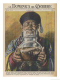 """Traditional """"Cure-All"""" from China, Black Tea Giclée-tryk af Walter Molini"""