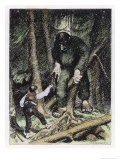 Trolls May be Big But They're Also Thick Giclee Print by Theodor Kittelsen