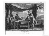 The Triumvirate, Marcus Antonius Octavius (Later Emperor Augustus) and Lepidus Reproduction procédé giclée par Augustyn Mirys