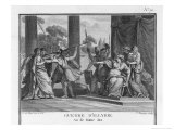 Teuta Queen of the Illyrians Orders the Roman Ambassadors to be Killed Giclée-tryk af Augustyn Mirys