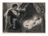 Othello Approaches the Sleeping Desdemona Giclee Print by Heinrich Hofmann