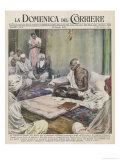 Mahatma Gandhi Indian Nationalist and Spiritual Leader Giclée-tryk af Walter Molini