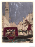 Carnival at Venice Giclee Print by Auguste Leroux