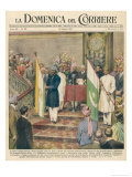Independence for the Indian Sub-Continent Divides India and Pakistan Giclée-tryk af Walter Molini