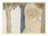 Saint Brigid Irish Slave Who Became a Nun Who Became a Saint Also Known as Bride Bridget Giclée-tryk af Cayley Robinson