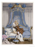Giovanni Giacomo Casanova Chevalier de Saingalt, with the Young Comtesse at Venice Giclee Print by Auguste Leroux