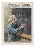 Albert Einstein at Princeton 1950 Giclée-tryk af Walter Molini