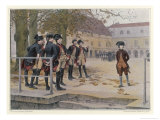 """Napoleon in 1779 as a """"Nouveau"""" at the Military School at Brienne Giclee Print by Maurice Realier-Dumas"""