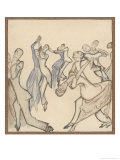 Seriously Passionate Couples Dance the Tango Giclee Print by Olaf Gulbransson