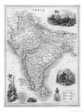 India Under British Rule About the Time of the Mutiny Impressão giclée por W. Hughes