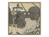 Inflation in Germany Gutenberg Giclee Print by F. Schilling