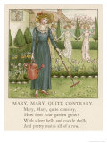 Mary Mary Quite Contrary How Does Your Garden Grow Giclee-trykk av Kate Greenaway
