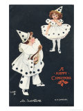 An Overture, Boy and Girl in Pierrot Costume Take a Fancy to One Another Giclee Print by H.d. Sandford