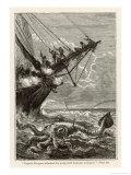20,000 Leagues Under the Sea: Attacking a Giant Squid Giclée-Druck von  Hildebrand