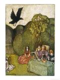 The Raven of Ill-Omen Comes to Cuchulain Gicléetryck av Stephen Reid