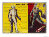 Space Suit as Foreseen in 1939 Giclee Print by Frank R. Paul