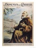 """Francesco Forgione Name in Religion Pio de Pietrelcina Known as """"Padre Pio"""" Capucin Friar Giclée-tryk af Walter Molini"""
