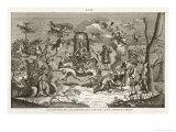 Satan Presides While Dancers Cavort Before Him Giclee Print by Bernard Picart