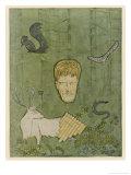 Knut Hamsun Norwegian Writer Nobel 1920 Giclee Print by Olav Gulbransson