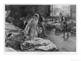 In Scutari Florence Nightingale Attends to a Patient Giclee Print by William Hatherell