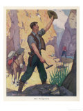 James Wilson Marshall Finds Gold Near Sutter's Fort Leading to the California Gold Rush Giclee Print by Sidney Rosenberg
